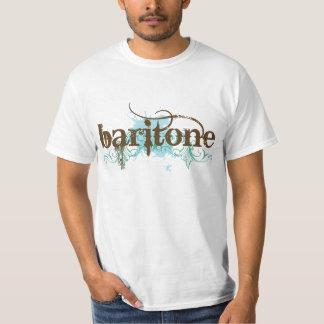 Blue Grunge Baritone Music Gift Tee Shirt