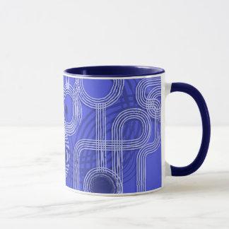 Blue Grunge Circles Mug