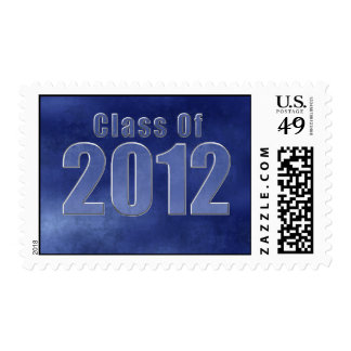 Blue Grunge Class Of 2012 Postage