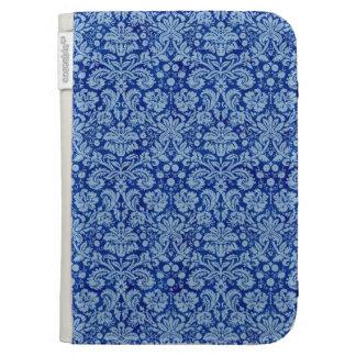 Blue Grunge Damask Pattern Kindle 3 Case