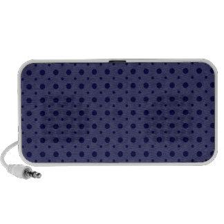 Blue Grunge Dots Laptop Speaker