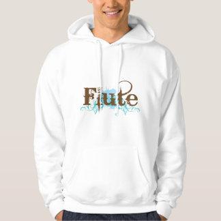 Blue Grunge Flute Music Design Hoodie