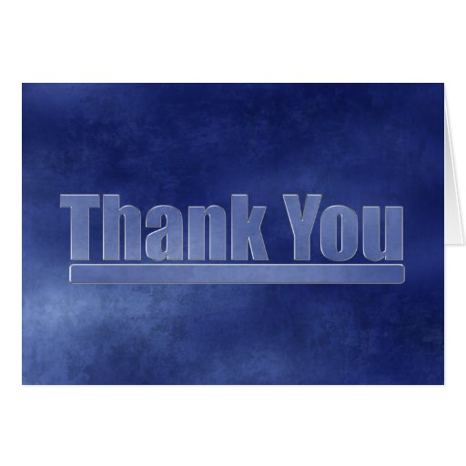 Blue Grunge Graduation Thank You Cards