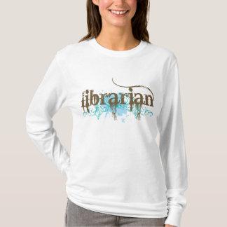 Blue Grunge Library Librarian Ladies Tee Shirt