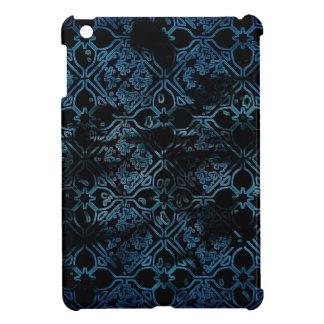 Blue Grunge Medieval Pattern iPad Mini Cover