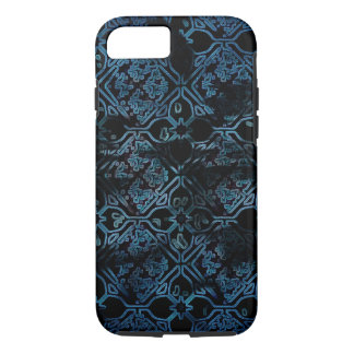 Blue Grunge Medieval Pattern iPhone 8/7 Case