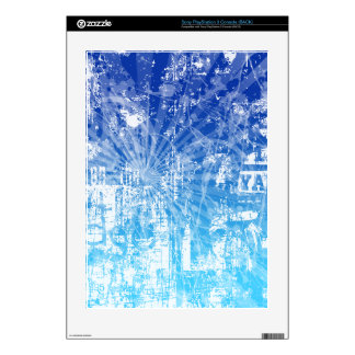 Blue Grunge PS3 Skin