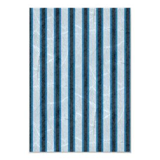Blue Grunge Stripes Card