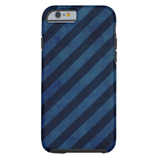 Blue Grunge Stripes Tough iPhone 6 Case