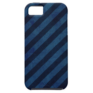 Blue Grunge Stripes iPhone 5 Cases