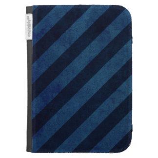 Blue Grunge Stripes Kindle 3 Covers