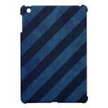 Blue Grunge Stripes iPad Mini Case