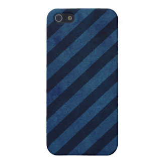 Blue Grunge Stripes iPhone 5 Cover