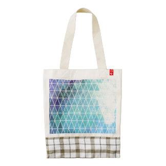 Blue Grungy Geometric Triangle Design Zazzle HEART Tote Bag