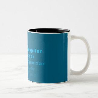 Blue GTD Workflow Two-Tone Coffee Mug