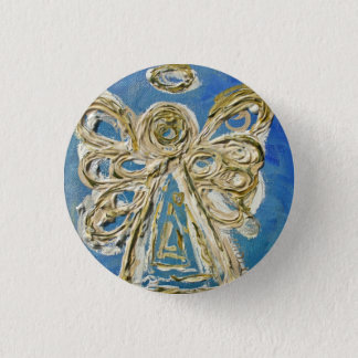 Blue Guardian Angel Buttons, Pins, or Pendants Pinback Button