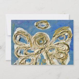 Blue Guardian Angel Custom Invites or Invitations
