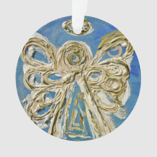 Blue Guardian Angel Gift Holiday Ornament
