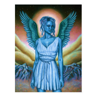 Blue Guardian Angel Postcard | Wish You Were Here