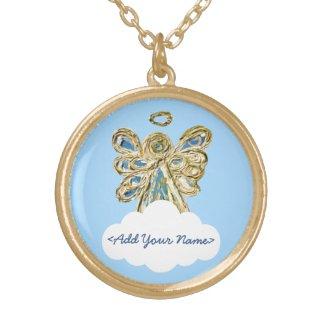 Blue Guardian Angel Series Cloud Custom Necklace