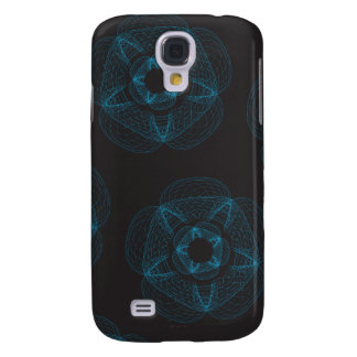 Blue guilloce pattern samsung galaxy s4 cover