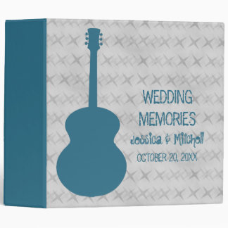 Blue Guitar Grunge Wedding Binder