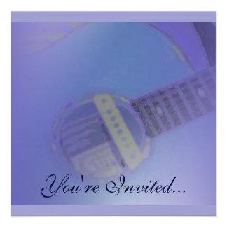 Blue Guitar Invitation
