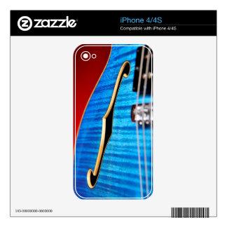Blue Guitar iphone Skin