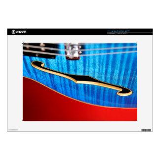 Blue Guitar Laptop Skin