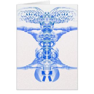 Blue guitar musical art by Valxart.com Card