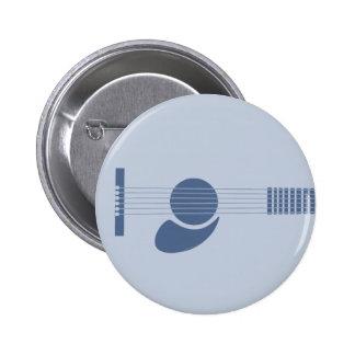 Blue Guitar Pinback Button