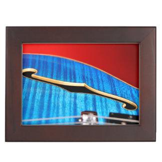 Blue Guitar Keepsake Box