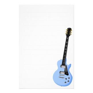 blue guitar stationary paper