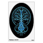 Blue Guitar Tree of Life on Black Room Stickers