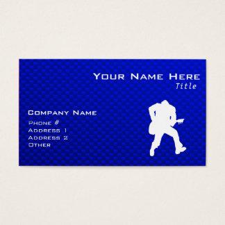 Blue Guitarist Business Card