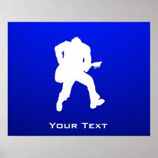 Blue Guitarist Print