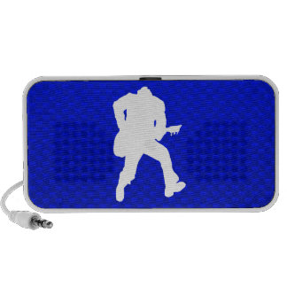 Blue Guitarist Laptop Speaker