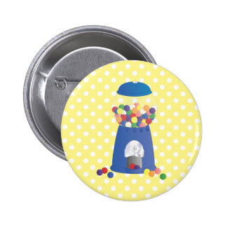 Blue Gumball Machine Pinback Button