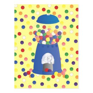 Blue Gumball Machine Postcard