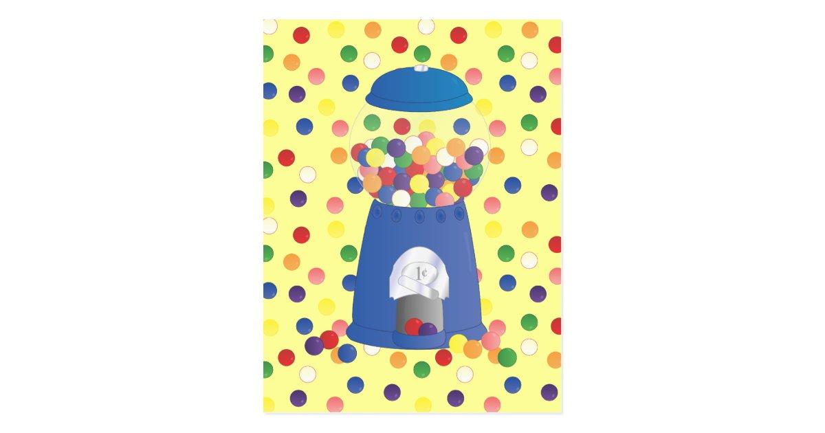 blue gumball machine