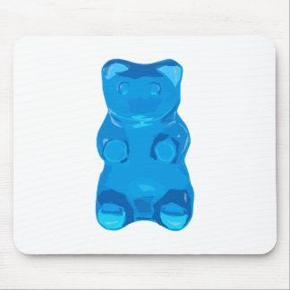 Blue Gummybear Illustration Mouse Pad