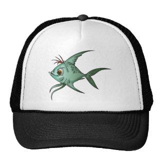 Blue Guppy Fish Mesh Hat