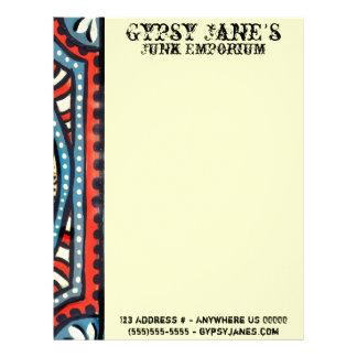 Blue Gypsies Eye Letterhead
