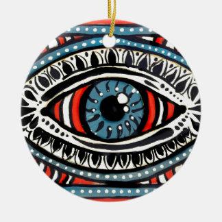 Blue Gypsy Ceramic Ornament