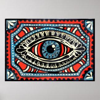 Blue Gypsy Eye Posters