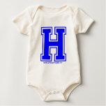Blue H Baby Bodysuit