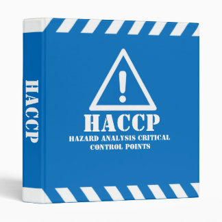 Blue HACCP 3 Ring Binder