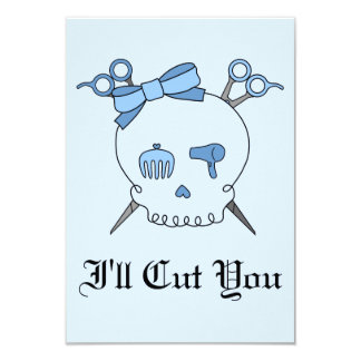 Blue Hair Accessory Skull (Scissor Crossbones #2) Custom Invite