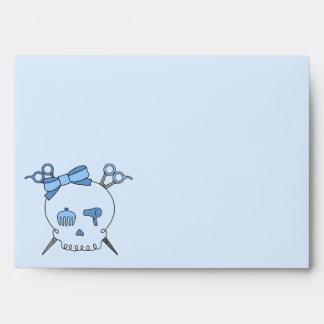Blue Hair Accessory Skull Scissor Crossbones 4 Envelopes
