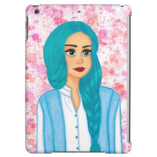 Blue hair iPad air cover